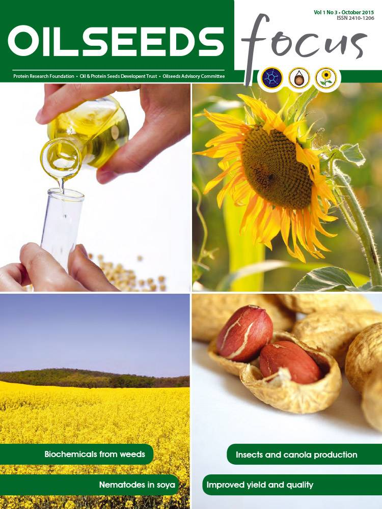 Cover of Oilseeds Focus Vol 1 No 3 – October 2015