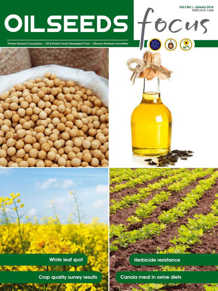 Cover of Oilseeds Focus Oilseeds Focus Vol 2 No 1 - January 2016