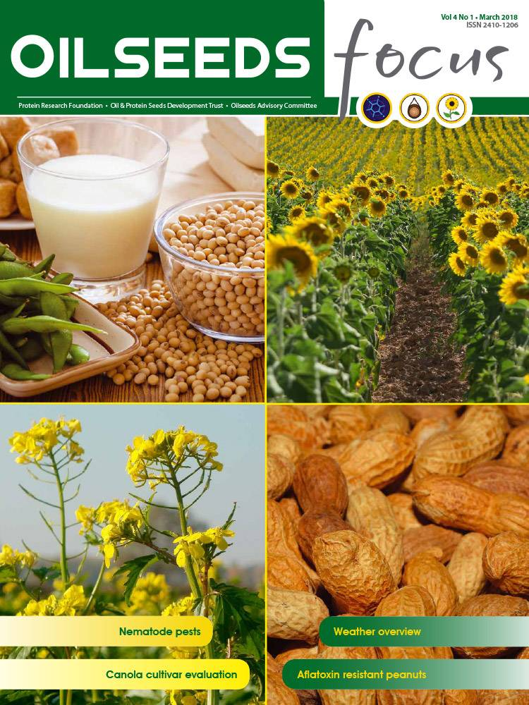 Cover of Oilseeds Focus Oilseeds Focus Vol 4 No 1 – March 2018